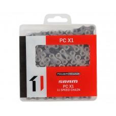 Цепь SRAM PC-X1 11 скоростей 118 звеньев + замок PowerLock