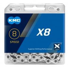 Цепь KMC X8 8 скоростей с замком 116 звеньев
