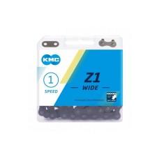 Цепь KMC Z1 Wide Single-speed 112 звеньев, коричневый + замок