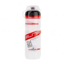 Фляга ELITE SUPERCORSA MTB с крышечкой 750 ml Bio прозрачный красный лого