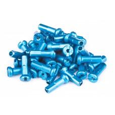 Ниппели FireEye ALU 7075 2/14 мм, 38 шт. в комплекте для спиц , цвет - голубой