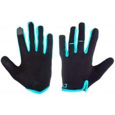 Перчатки Green Cycle Punch с закрытыми пальцами черно-синие