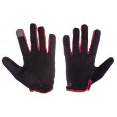 Перчатки Green Cycle Punch с закрытыми пальцами черно-красные