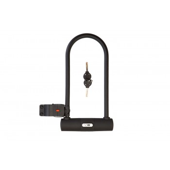 Замок Green Cycle U-lock на ключе GLK-467 с дугой 115х260mm, черный